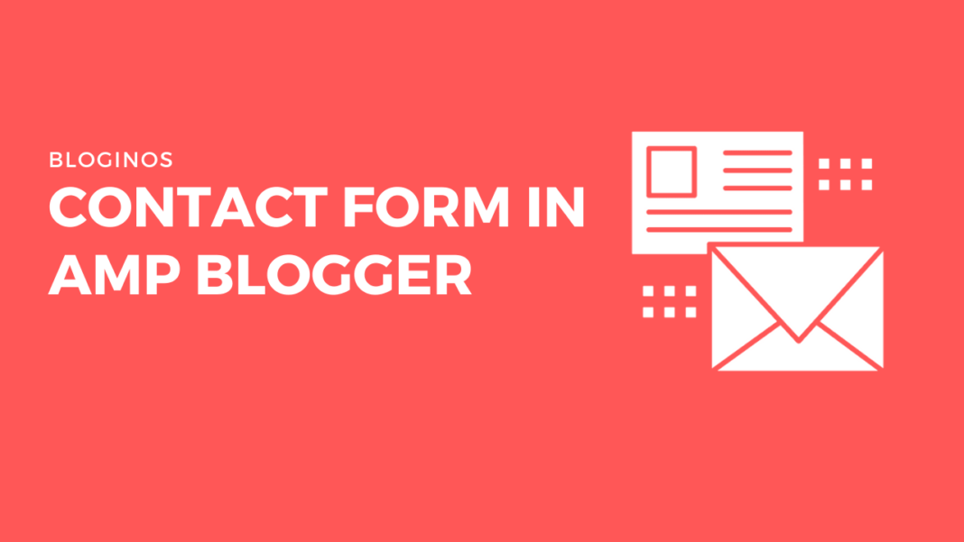 Contact Form in AMP Blogger
